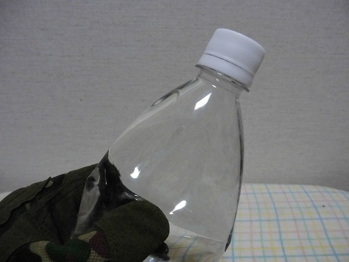 The plastic bottle freezing3