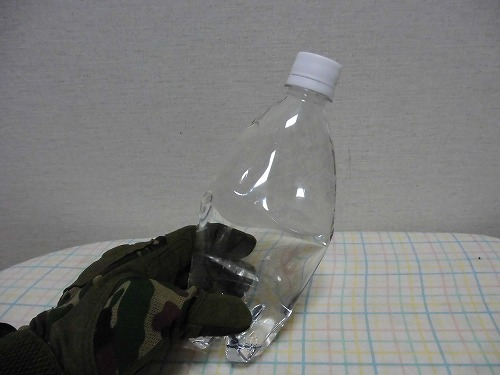 The plastic bottle freezing4