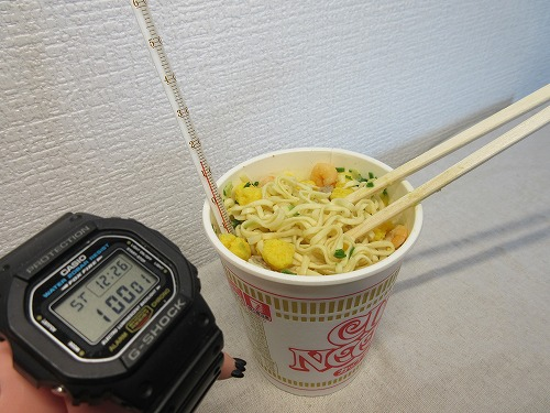 Cup noodle cooking water (10)