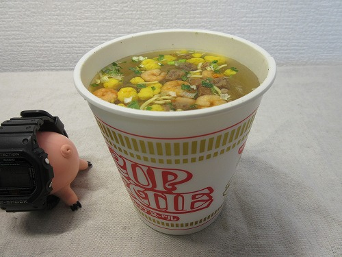 Cup noodle cooking water (4)