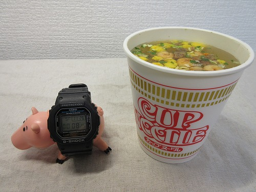 Cup noodle cooking water (5)