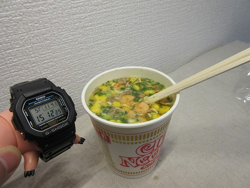 Cup noodle cooking water (7)
