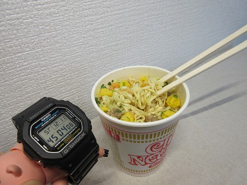Cup noodle cooking water (9)